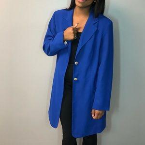 Blue long blazer